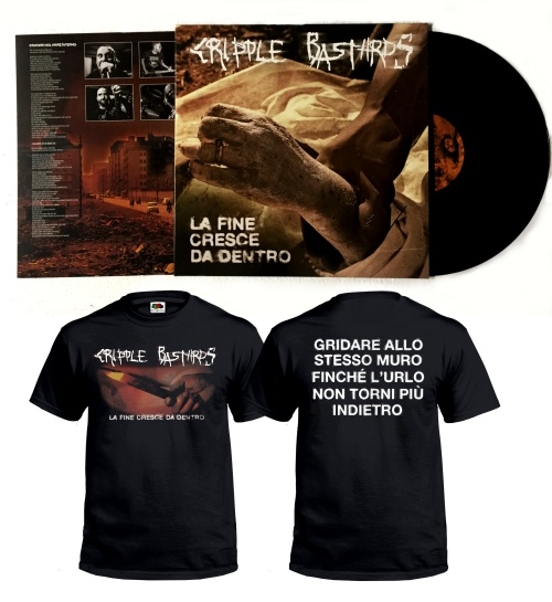 "CRIPPLE BASTARDS ""La fine cresce.."" TSHIRT + LP ltd. bundle!"