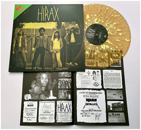 "HIRAX ""Born in the streets 1983-84"" 2nd press (diehard) PREORDER"